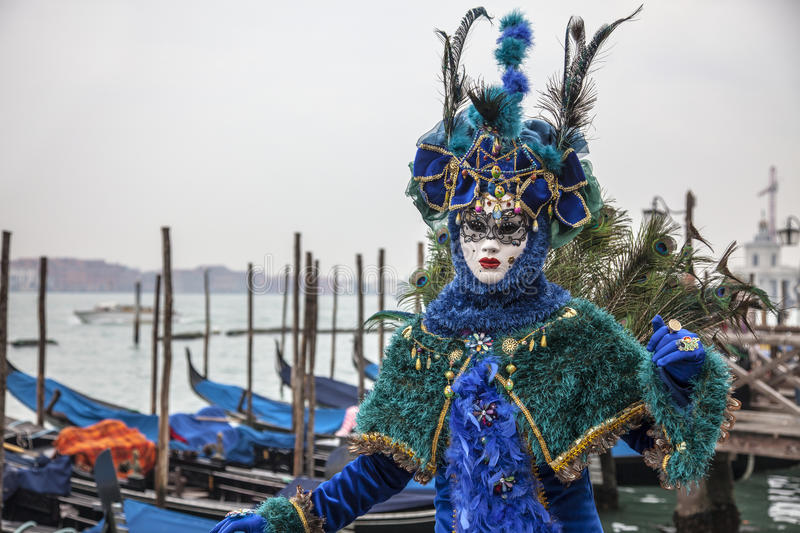 Download Blue Venetian Disguise editorial photo. Image of europe - 28798786