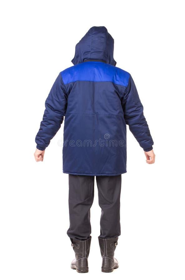 Blue vest back view. stock photo