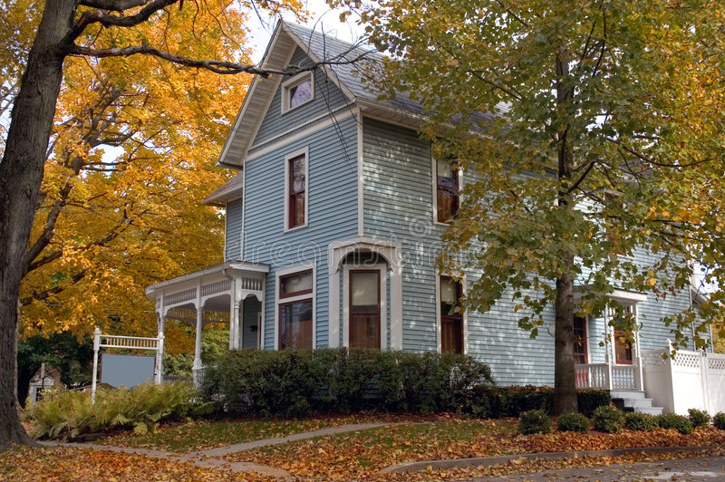 Blue Victorian House royalty free stock images