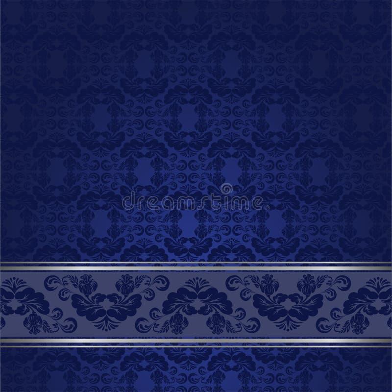 Blue vintage background stock illustration