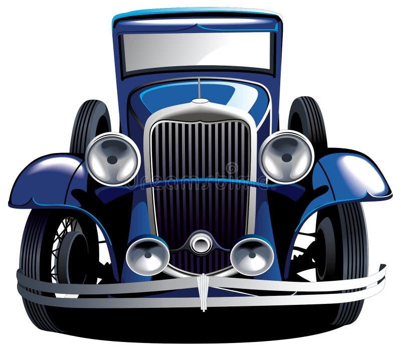 Download Blue vintage car stock vector. Illustration of coupe - 14717547