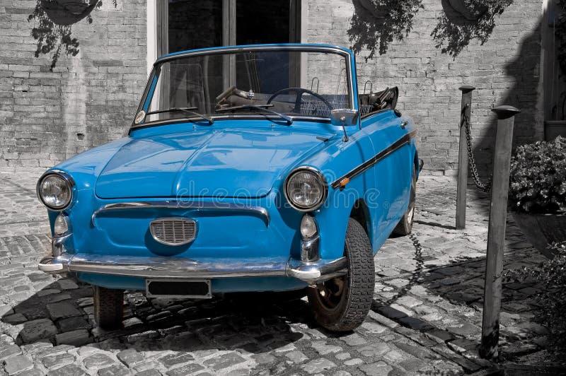 Download Blue vintage car. stock photo. Image of chrome, oldtown - 16162728