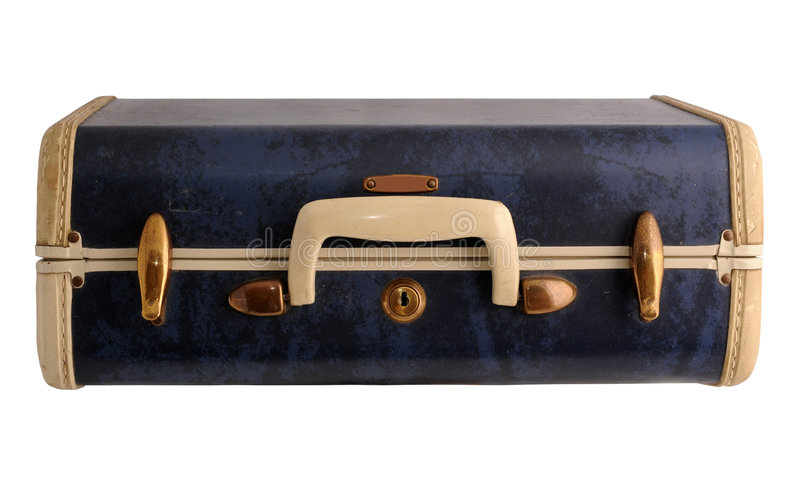 Blue Vintage Suitcase Stock Photos - Image: 5619623