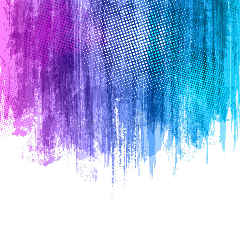 Blue Violet Paint Splashes Gradient Background. Vector eps 10 design illustration with place for your text and logo. Texture royalty free illustration
