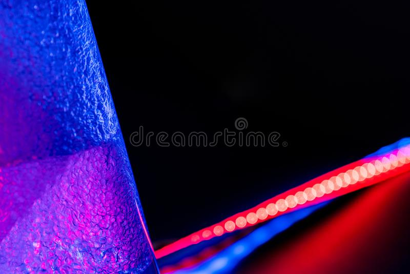 Multi-colored lighted abstraction background. stock photos