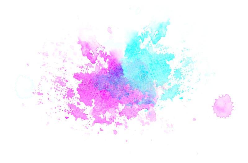 Blue violet watercolor blot background, raster illustration. Blue violet watercolor blot for background, raster illustration stock illustration