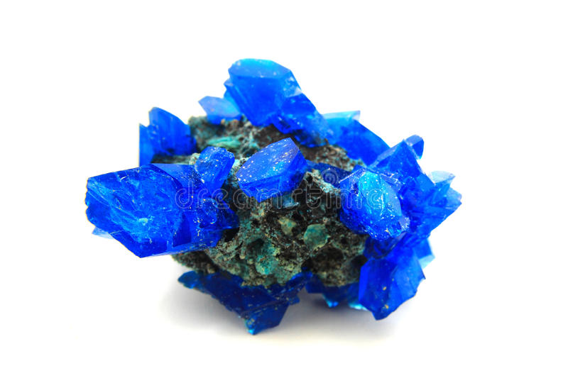 Blue vitriol mineral stock photo