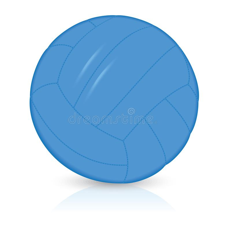 Blue volleyball ball royalty free stock photos
