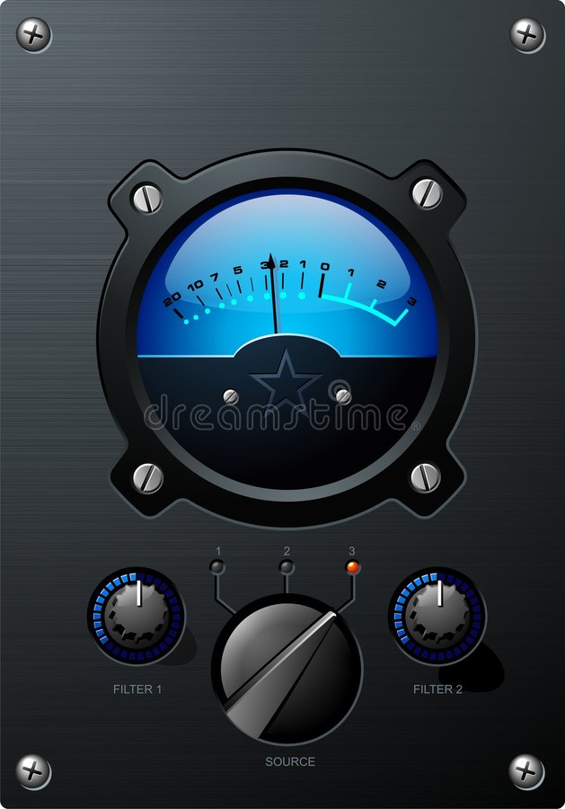 Download Blue Volume Meter stock vector. Illustration of performance - 5286360