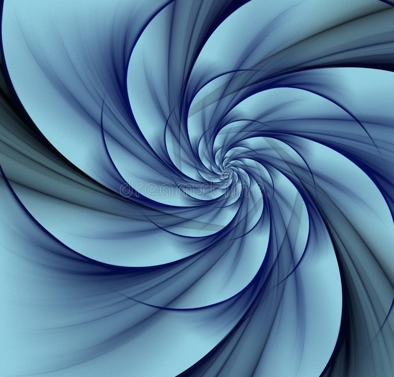 Blue vortex background royalty free stock photo