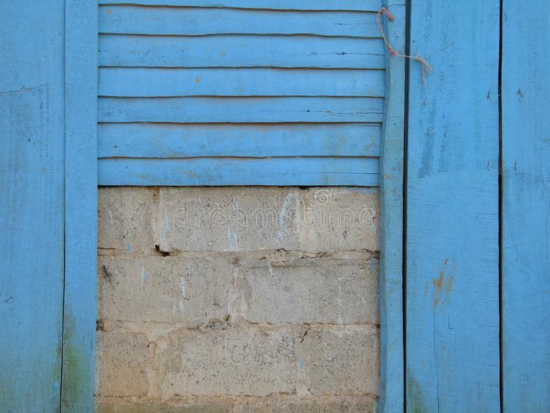 Download Blue wal stock photo. Image of decayed, house, texture - 8404552