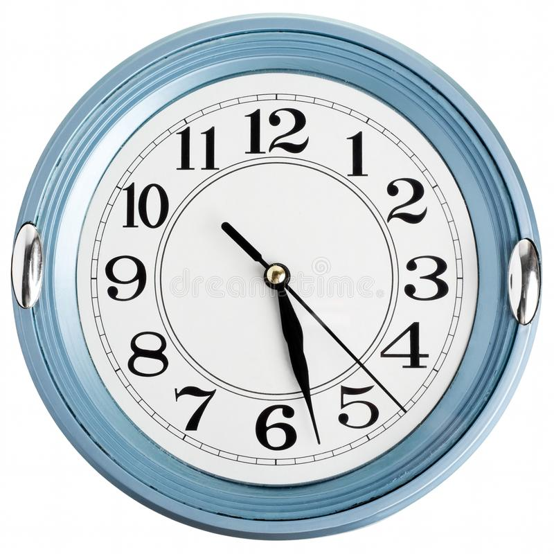 Download Blue wall clock stock image. Image of concepts, hand - 20413159