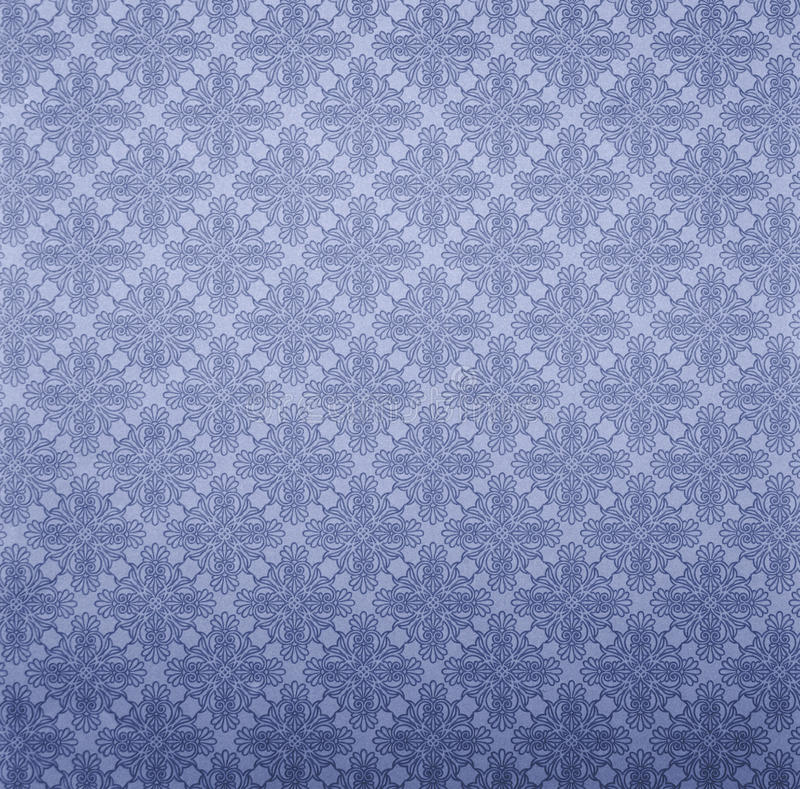 Blue Wall paper. With elegant floral pattern royalty free stock photo