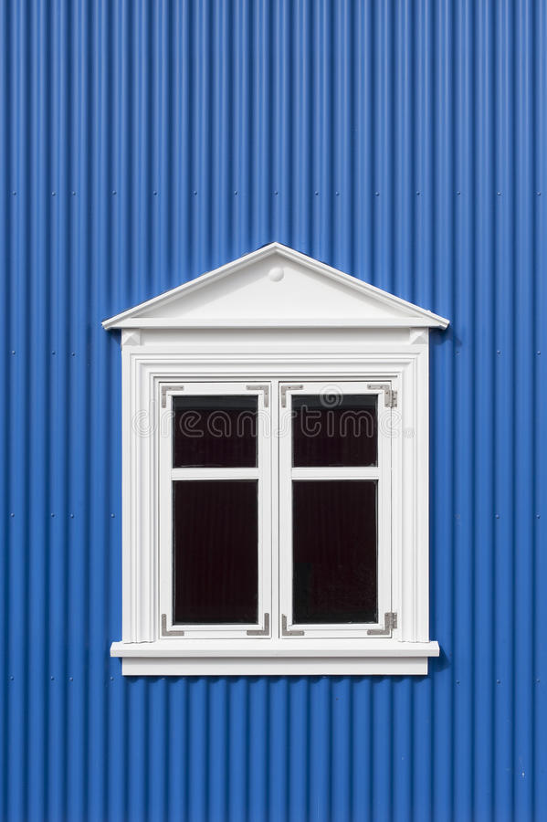 Download Blue wall with window stock photo. Image of window, outside - 26186982