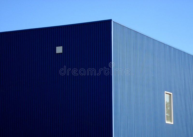 Blue warehouse stock images