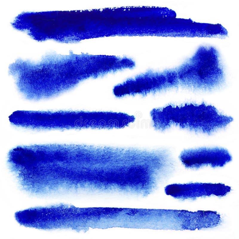 Download Blue Watarcolor Paint Strokes Stock Illustration - Image: 31943971