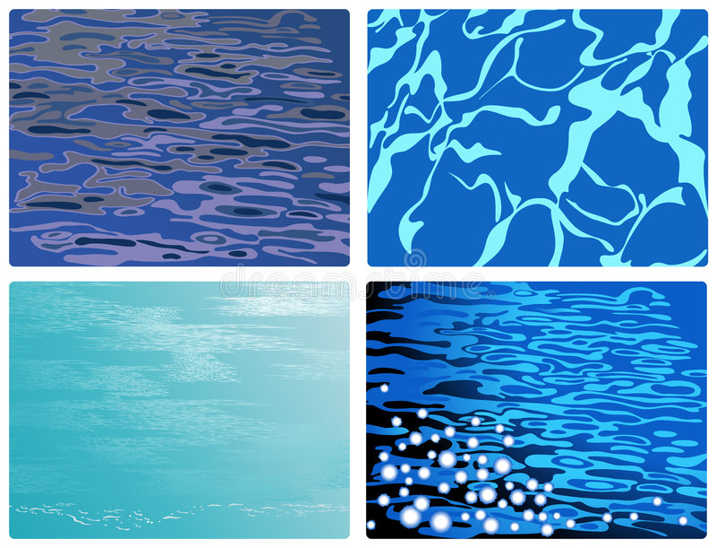 Blue_water ilustração stock