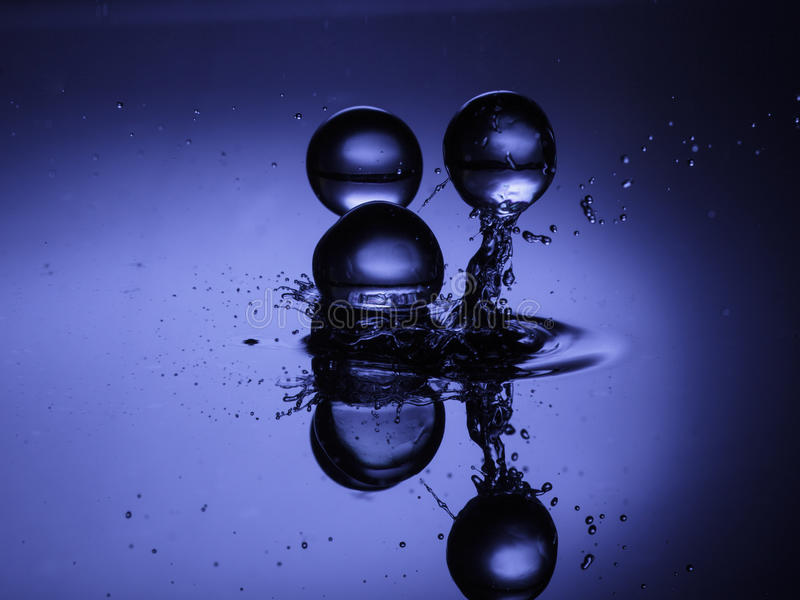 Blue Water Ball 01 royalty free stock photo
