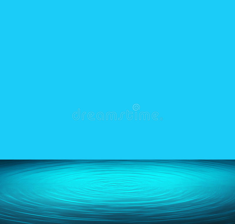 Blue water and blue background illustration royalty free illustration