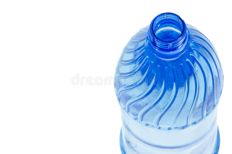 Blue Water Bottle. Water bottle isolated on white stock image