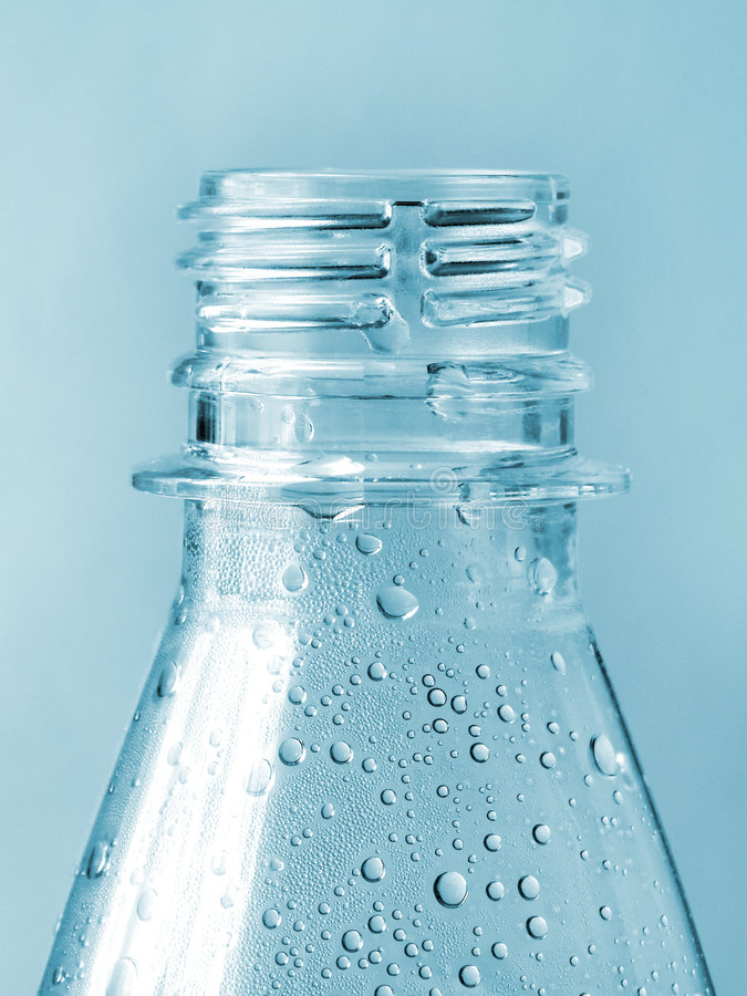Blue Water Bottle royalty free stock photos