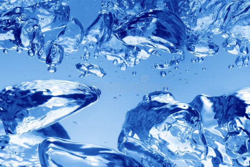 Blue water bubbles royalty free stock photography