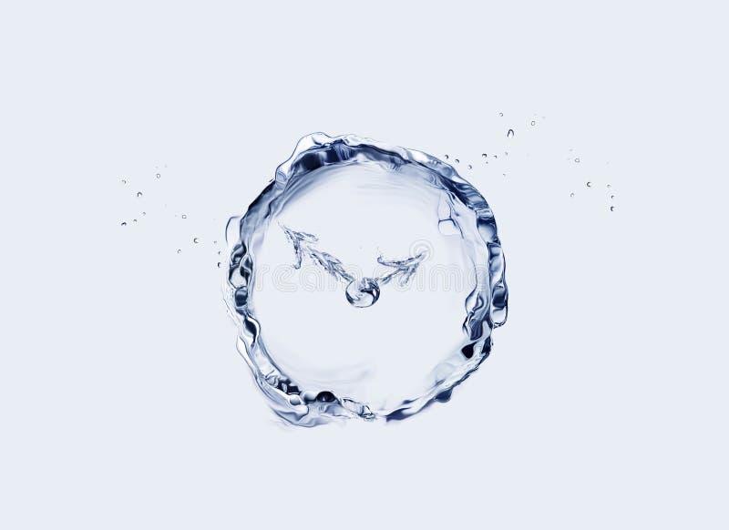 Blue Water Clock stock photo