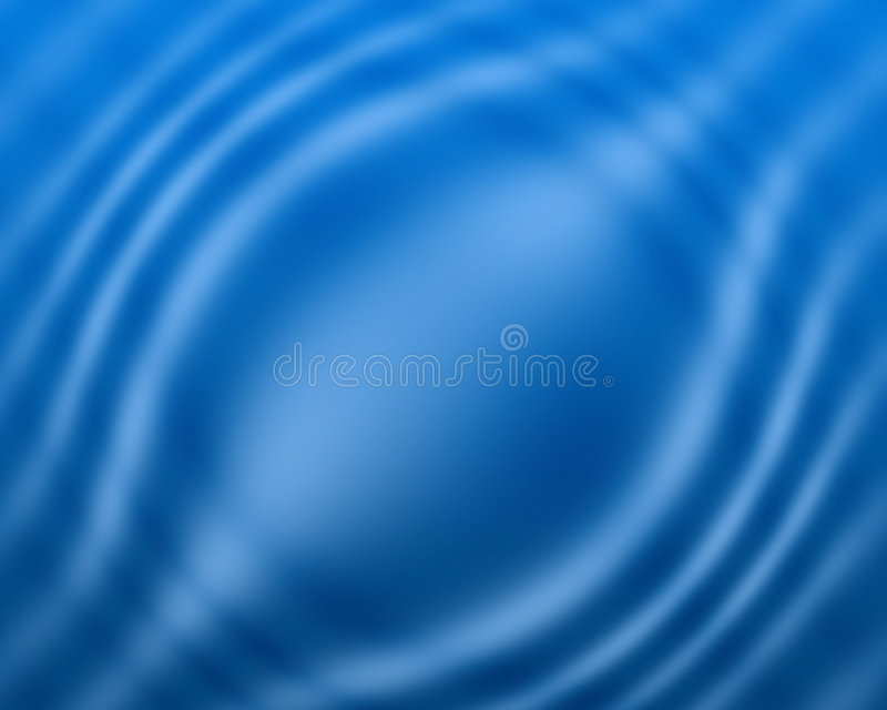 Blue water color wave background and abstract art stock photo