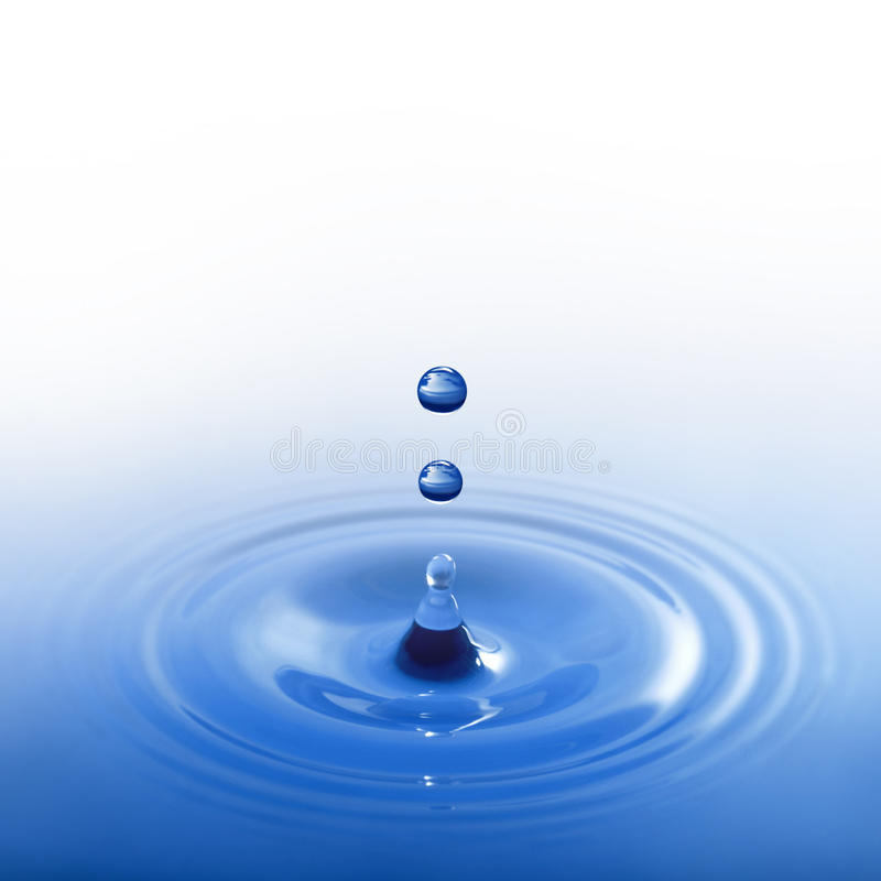Blue water drop royalty free stock images