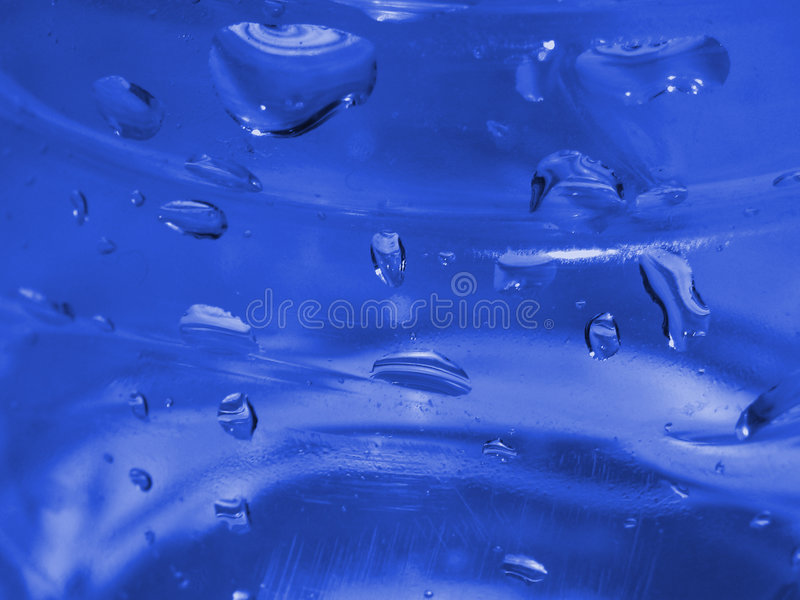 Blue Water Droplets on Plastic royalty free stock photography