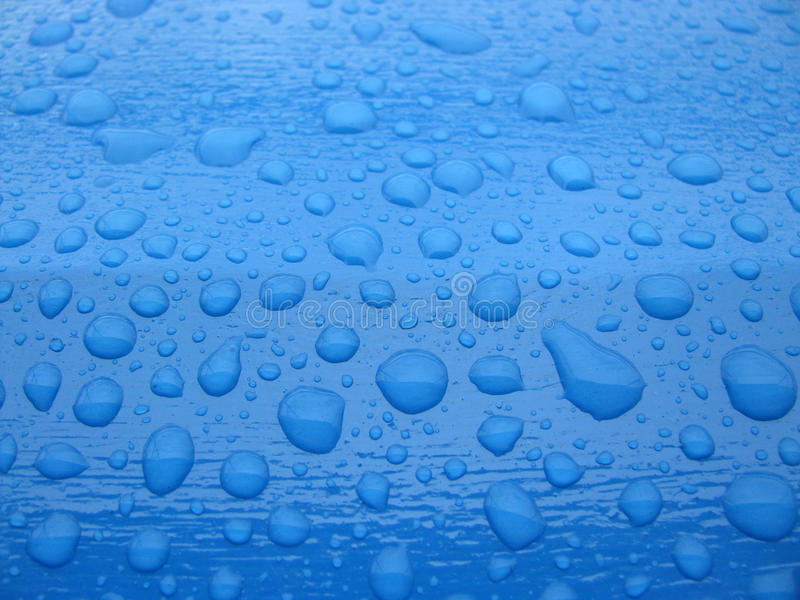 Blue water drops royalty free stock image