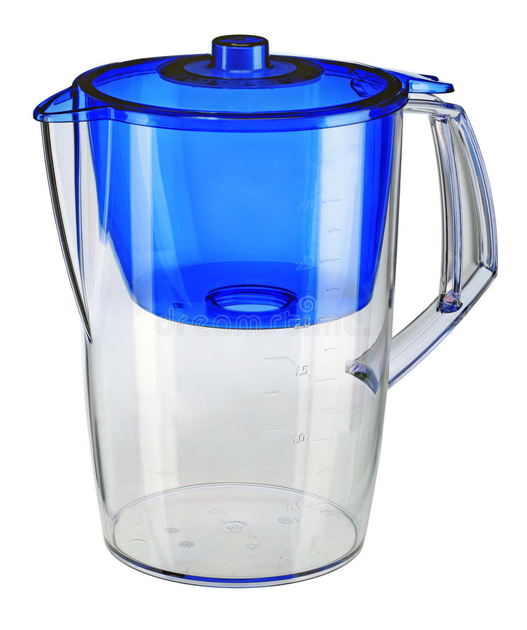 Download Blue Water Filtration Pitcher Stock Photo - Image of filtration, jugful: 33667440