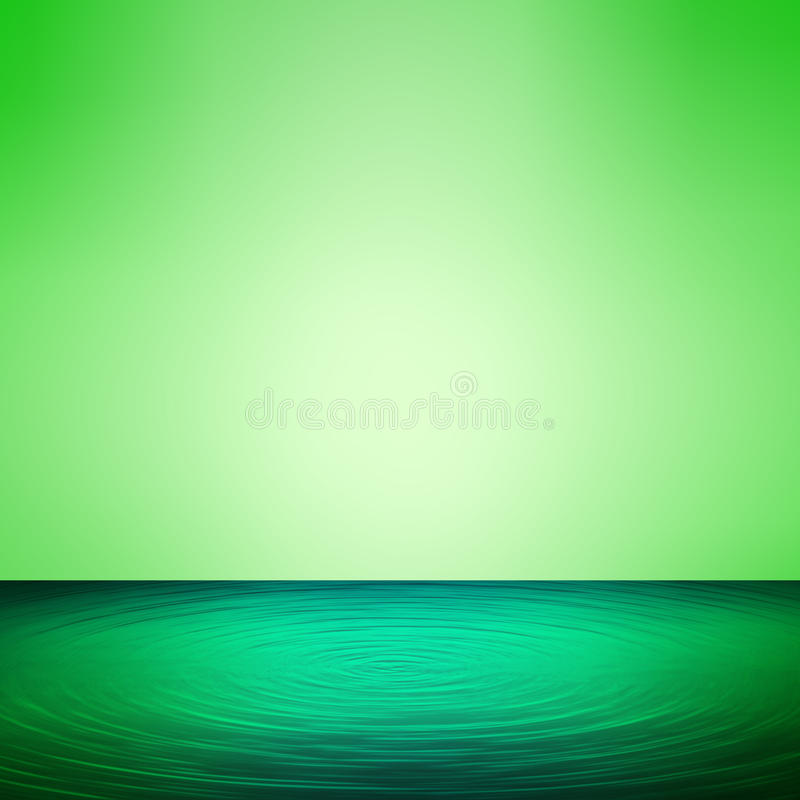 Blue water and green background illustration stock illustration