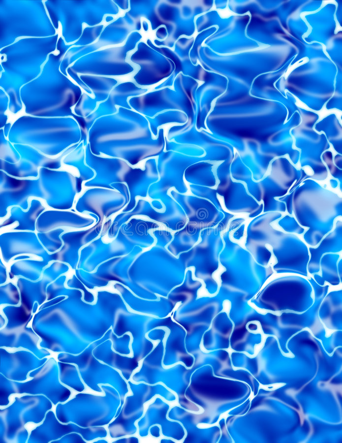 Blue Water Illustration stock images