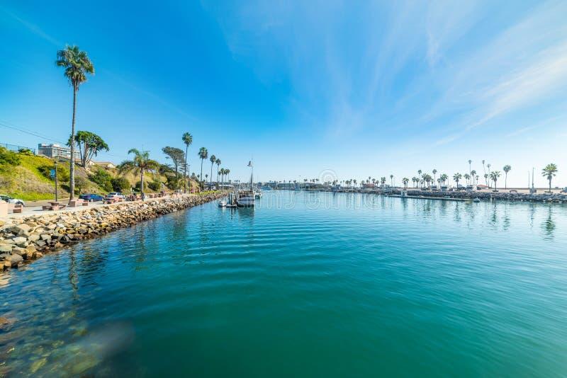 Blue water in Oceanside harbor. California stock photos