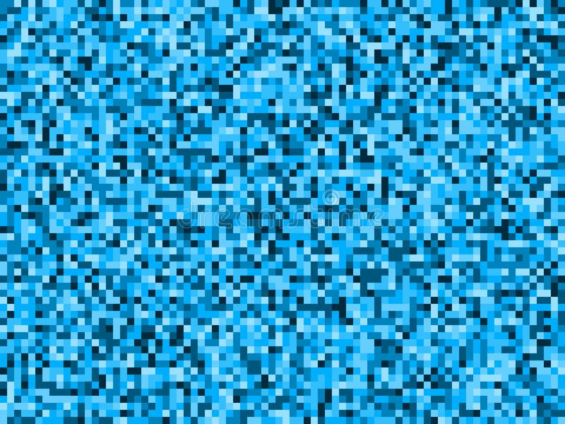 Blue water pixel camouflage abstract seamless pattern vector illustration