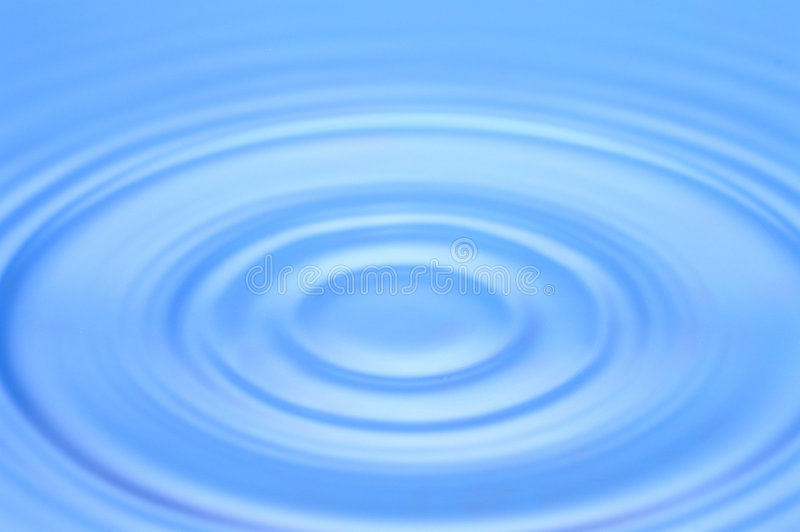 Blue Water Ripple Royalty Free Stock Photography