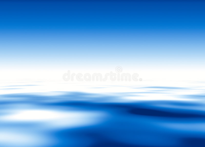 Blue water and sky.... Horizontal orientation royalty free illustration