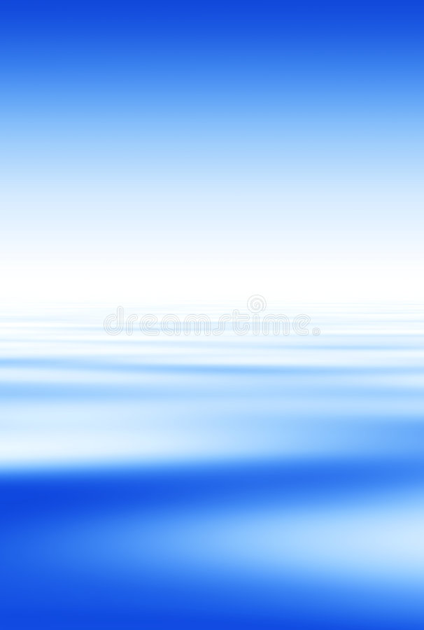 Blue Water And Sky Background vector illustration