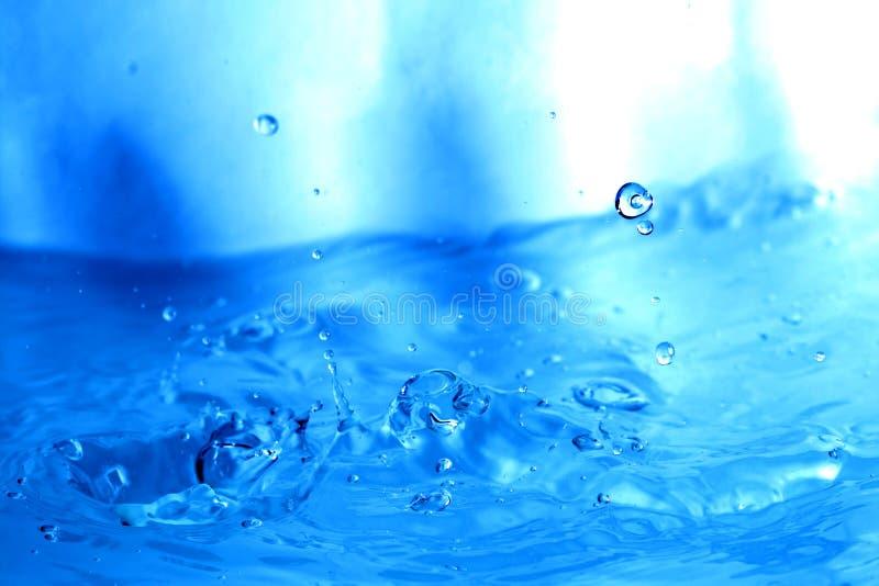 Blue water splash. Macro close up stock image