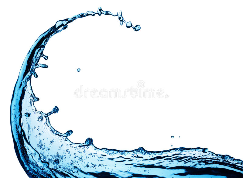 Blue water splash stock photo