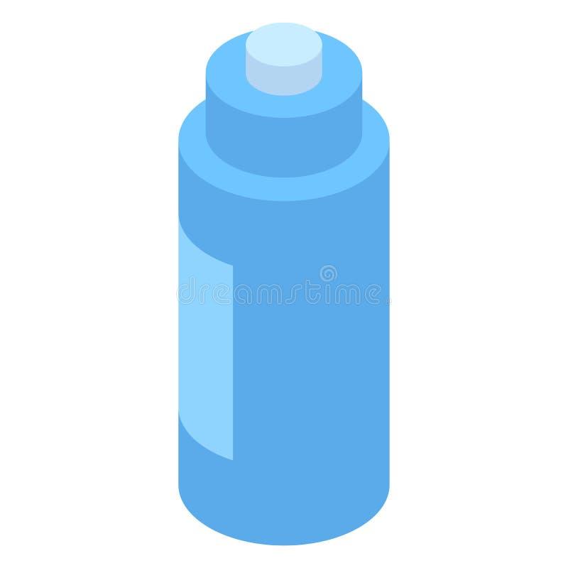 Blue water sport bottle icon, isometric style royalty free illustration