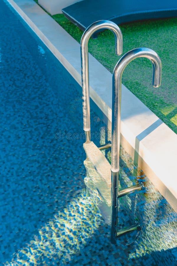 Blue water swimming pool stock image