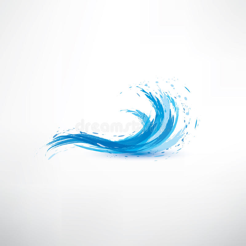 Blue water wave royalty free illustration