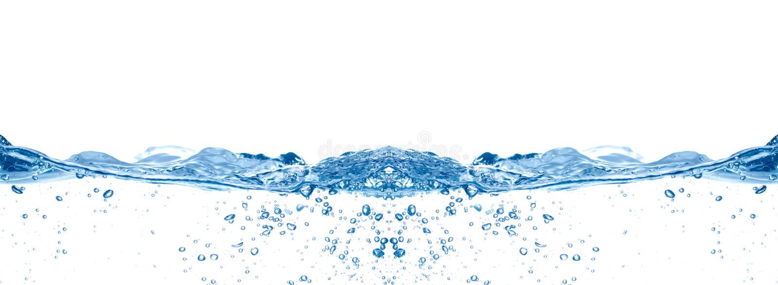 Blue water wave. See my other works in portfolio stock photography