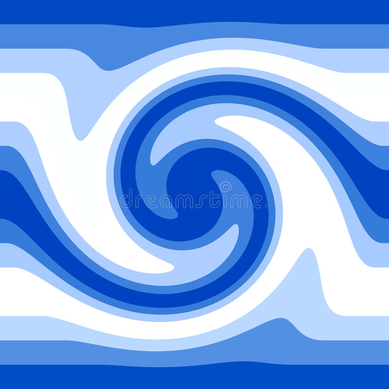Blue water waves royalty free illustration