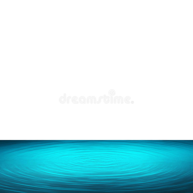 Blue water and white background illustration vector illustration