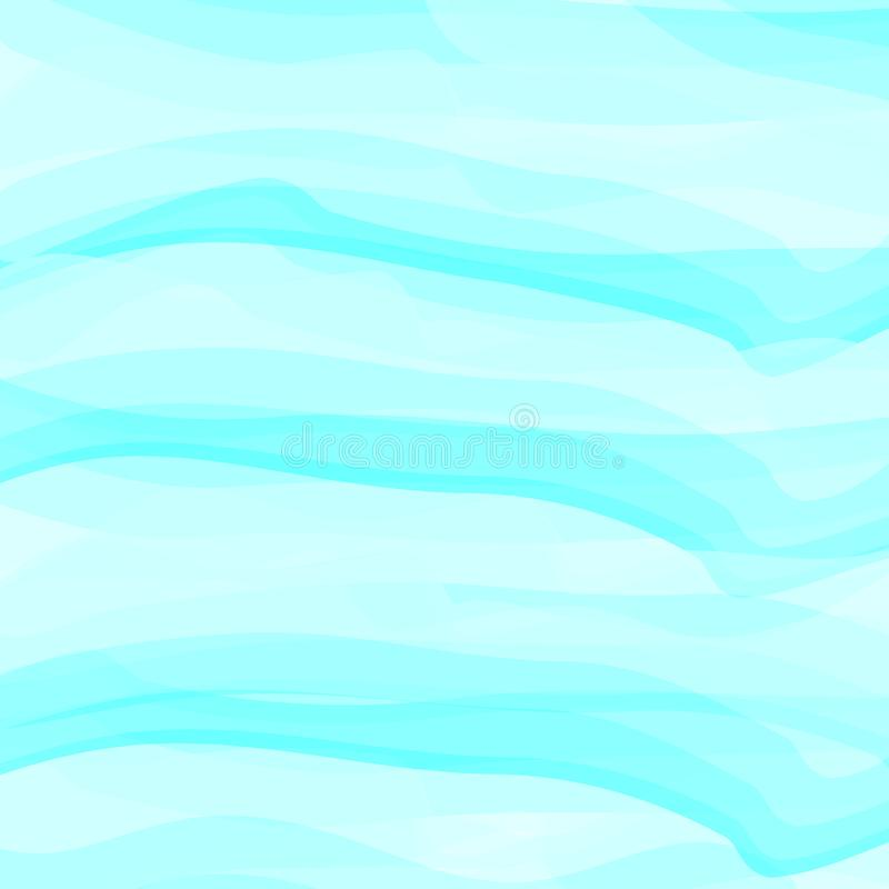 Blue watercolor abstract background. Clouds, sky, sea waves. Color pattern. Vector illustration. EPS 10. Blue watercolor abstract background. Clouds, sky, sea vector illustration