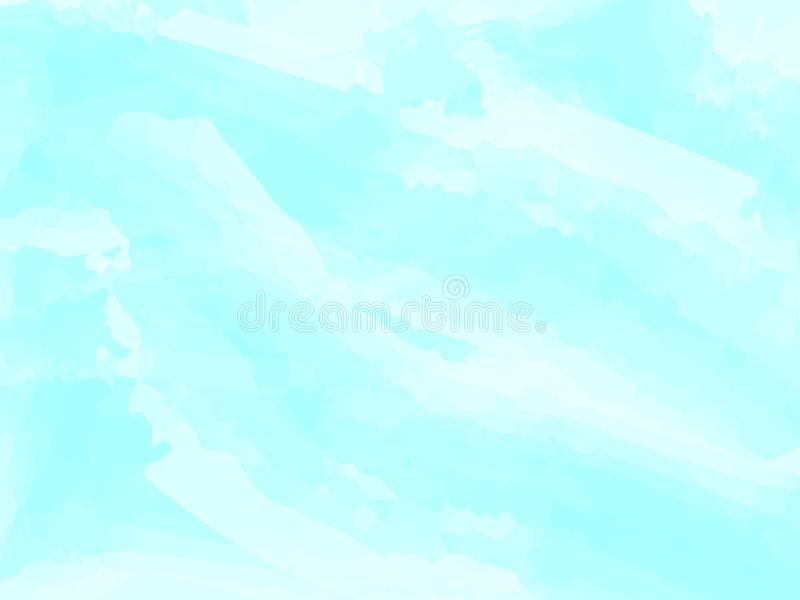 Blue watercolor abstract background. Clouds, sky, sea waves. Color pattern. Vector illustration. EPS 10. vector illustration