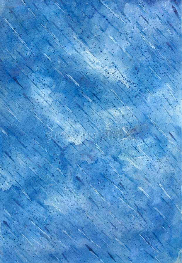 Blue watercolor abstract background. royalty free illustration